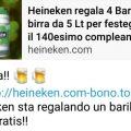 Bufala Heineken su WhatsApp