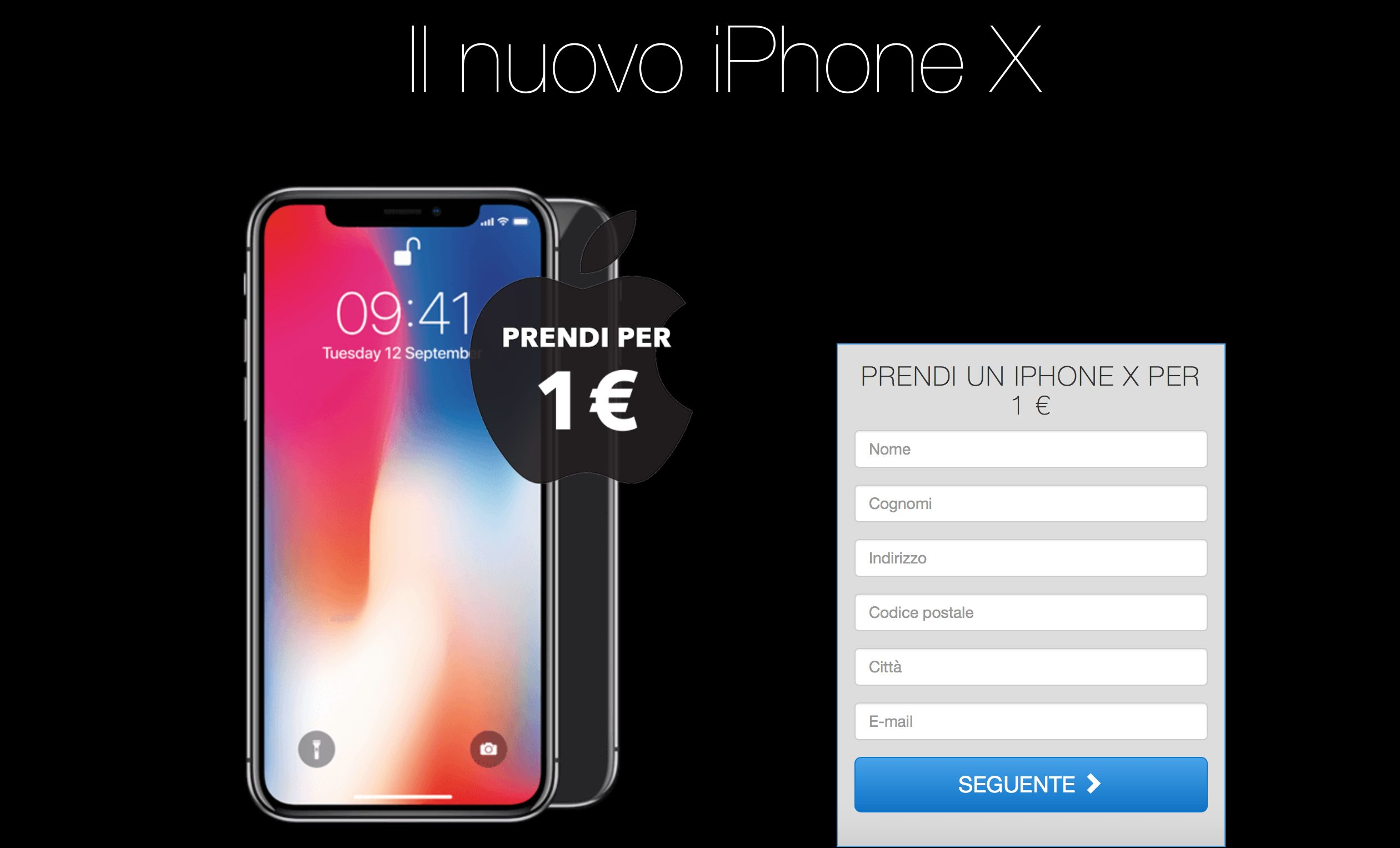 iphone x a 1 euro attenzione alla truffa serverbit. Black Bedroom Furniture Sets. Home Design Ideas